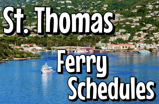 St Thomas Ferry Schedule