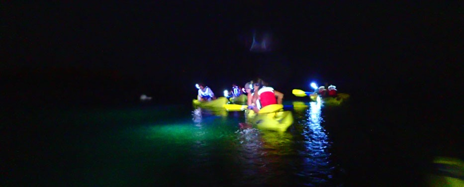 Night Kayak with Pirate and Ghost Stories in St. Thomas
