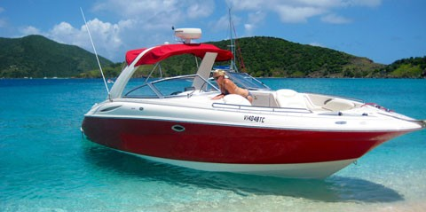 Full-Day Power Boat Rental from St. Thomas or St. John