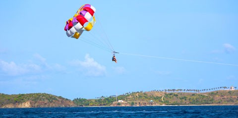 Parasailing St Thomas, U.S. Virgin Islands - Sapphire Beach Marina