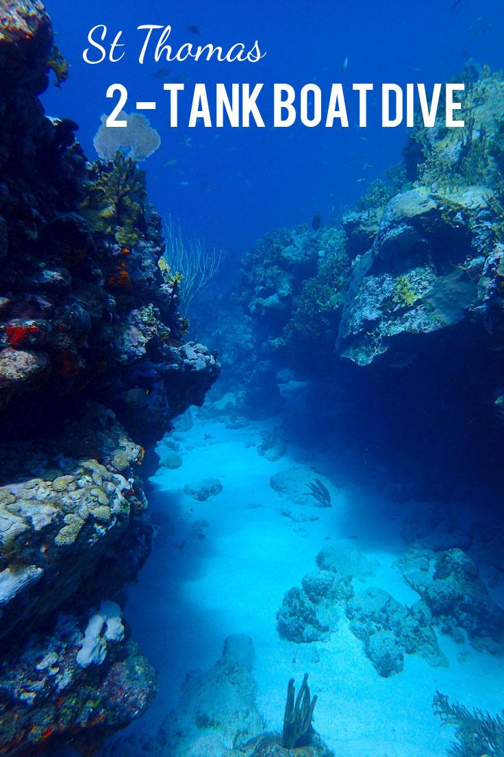 Scuba Diving St. Thomas: 2-Tank Morning Boat Dive